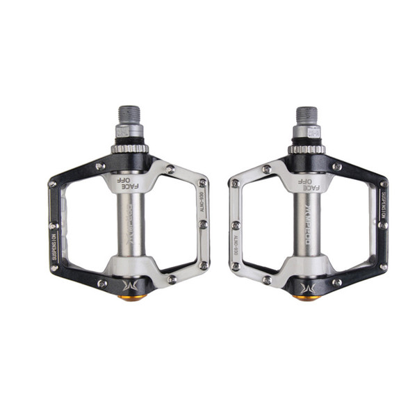 2 Colors New Alloy MTB Mountain Road Bicycle Pedals Flat Aluminum Alloy Pedals Platform with Gearwheel Bike Cycling Accessories
