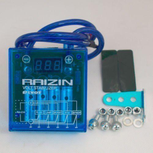 PIVOT MEGA RAIZIN Universal Poupança de Combustível Do Carro Saver Regulador de Tensão Regulador LedBlue