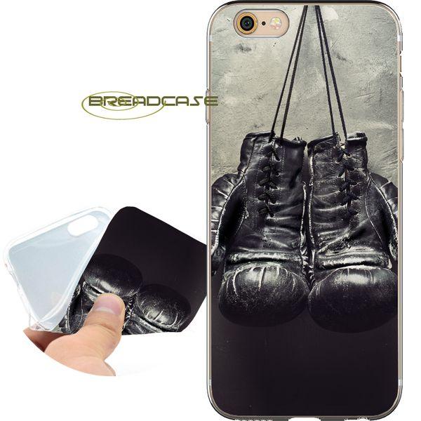 Fundas Old Gants de boxe Coques pour iPhone 10 X 7 8 6S 6 Plus 5S 5 SE 5C 4S 4 iPod Touch 6 5 Coque en silicone TPU transparente.