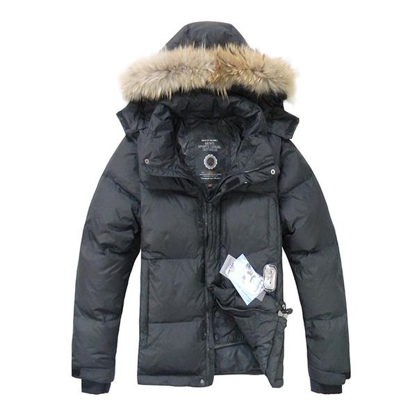 2018 Hot Sale Mens Duck Down Jacket Winter Down Coat Raccoon Fur Waterproof Hooded Jackets Mens Winter Jacket Free Shipping