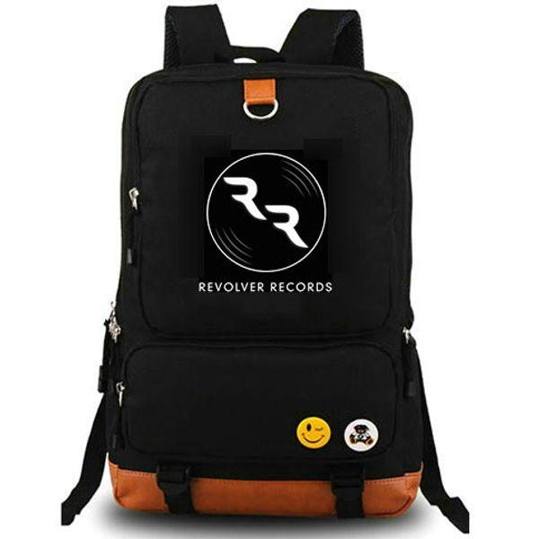 Shazam backpack Revolver records daypack DJ music schoolbag Computer interlayer rucksack Canvas school bag Outdoor day pack