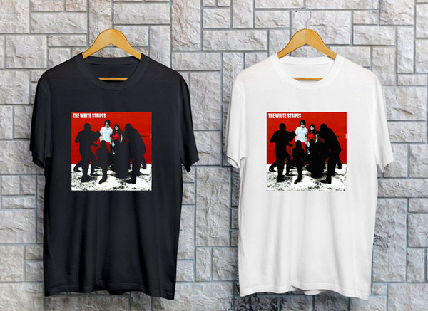 The White Stripes White Blood Cells Men's Black White T-Shirt Size S-3XL Fashion Logo Printing T Shirts Printing Gray Style