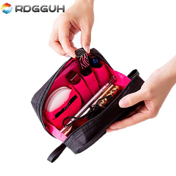 RDGGUH Fashion Mini Cosmetic Organizer Makeup Bag Women Travel Beautician Professional Brush Necessaries Small Toiletry Bags