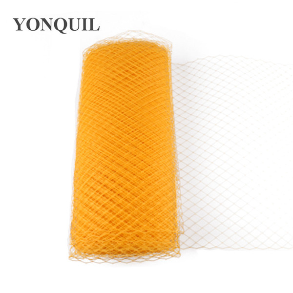 """Yellow Birdcage Veils 10""""(25cm) For bridal lady Millinery Hat Mesh Veil fascinator nettings material DIY Hair accessories 10yard/lot"""