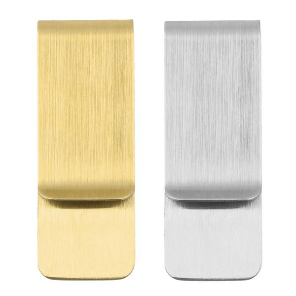 Monedero de dinero en efectivo de acero inoxidable Nota Titular de la tarjeta de crédito Carpeta de monedero Organizador Clip de metal de plata de oro para hombres NNA799