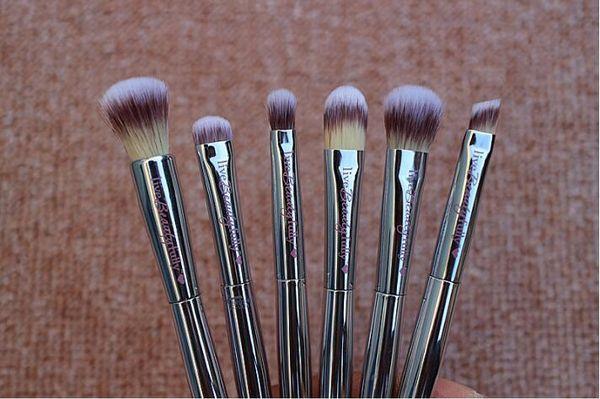 New Makeup Brushes Makeup Tools 6pcs Professional Brush sets Horse Hair Black High Quality DHL shipping