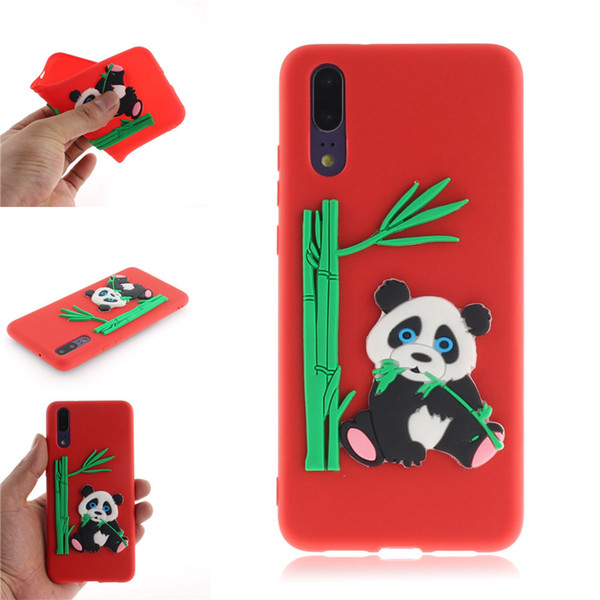 Fashion Cover For Huawei P20 P20 Pro Case Coque Candy Silicone Panda bamboo Soft silica gel Mobile Phone Cases Shell Covers