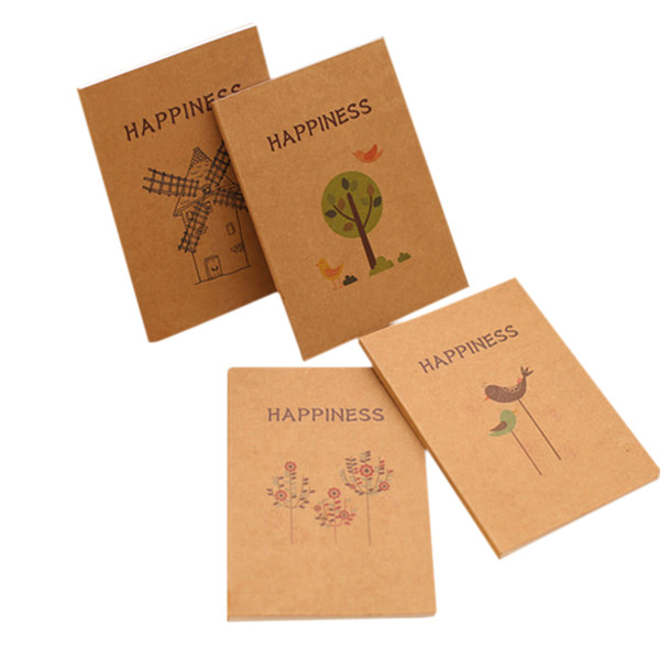12pcs/lot Creative birds and flowers Craft Paper Notepad Diy Korea Handwritten sketches MEMO Student School Office