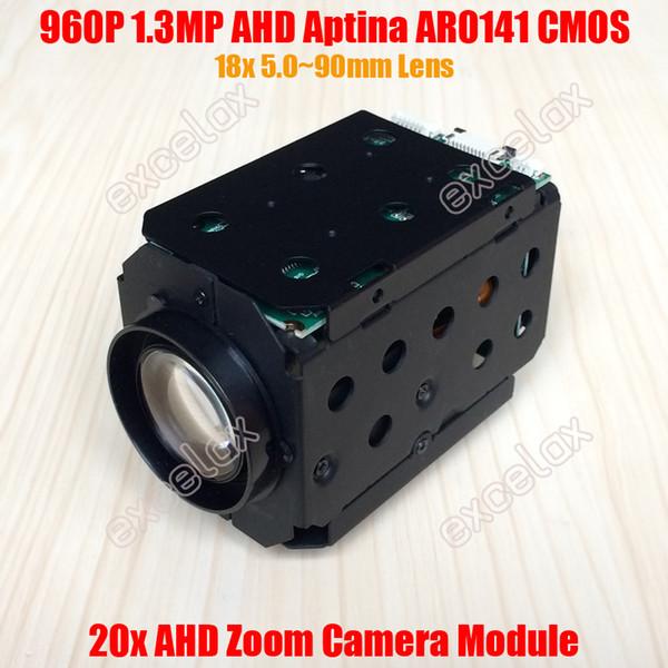 NEW 960P 1.3MP AHD 18x 20x Optical Aptina AR0141 CMOS Zoom Camera Module Coaxial Analog HD CCTV PTZ High Speed Dome Block Camera
