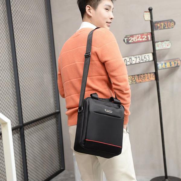 waterproof Men's 2018 shoulder bag Messenger men bags new casual Oxford cloth handbags vertical retro business black brown