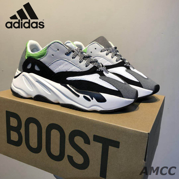 Adidas Originals Yeezy Wave Runner 700 Kaws Women Men Running Shoes Sport Fashion Kanye West 700 Trainers Sneaker 3m Reflective Dad Shoes Running