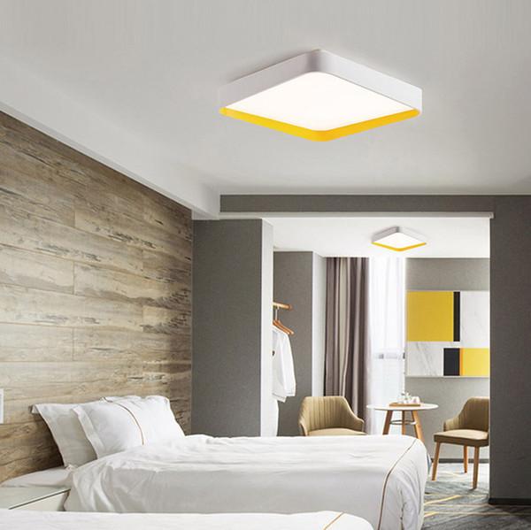 Lámparas de techo semi-cuadradas, simples y modernas, con luz de techo, lámparas de techo montadas en la superficie plafons LED para sala de estar