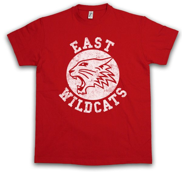 EAST WILDCATS T-SHIRT High School Basketball Wild Musical Cats Team Logo Symbol Funny free shipping Unisex Casual tee gift