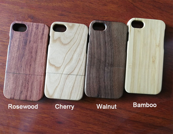 Customized Engraving Real Wood Phone Case For iphone X 10 7 8 6 6S plus 5 5S Mobile Phone Bamboo Cover Wooden Hard Case For Samsung S9 S8 S7