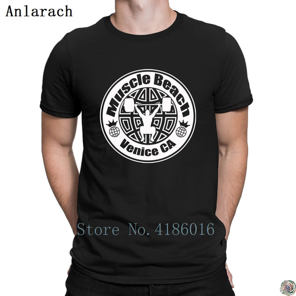 MUSCLE BEACH GEAR t-shirt O-Neck Outfit Creative summer t shirt for men solid color Tee top New Style tee shirt family