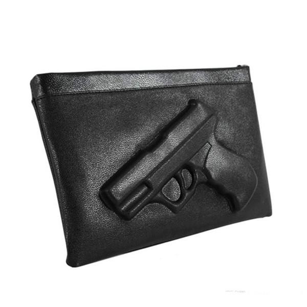 2018 Gun 3D print Handtasche Frauen Kupplungen Ketten PU Leder Crossbody Taschen Frau Messenger candy Farbe Umhängetaschen