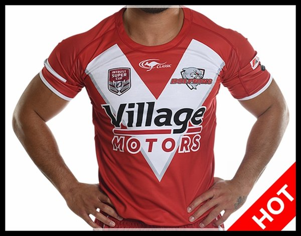 Hot sales Best Quality 2018 2019 INTRUST SUPER CUP Redcliffe Dolphins Rugby Jerseys League jersey 18 19 Redcliffe Dolphins shirt s-3xl