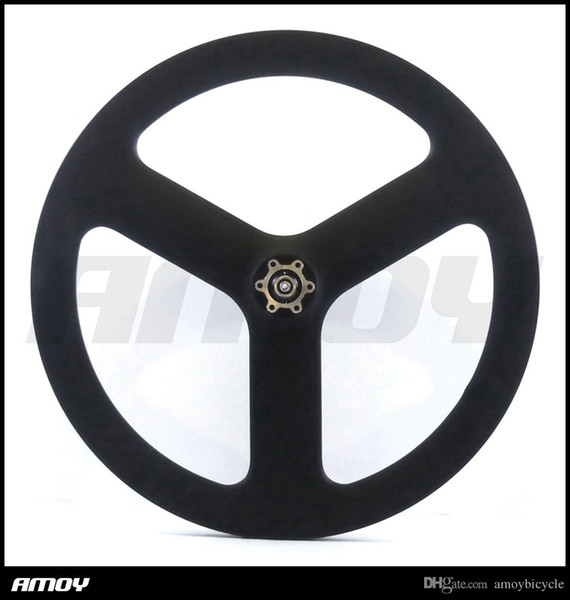 20 Inch BMX 451 Carbon Road/Track/Fixed Gear 3 Spokes Clincher Wheel