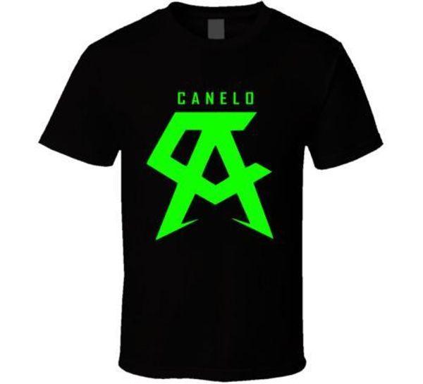 canelo alvarez boxer logo Men's Black White T Shirts Men Casual