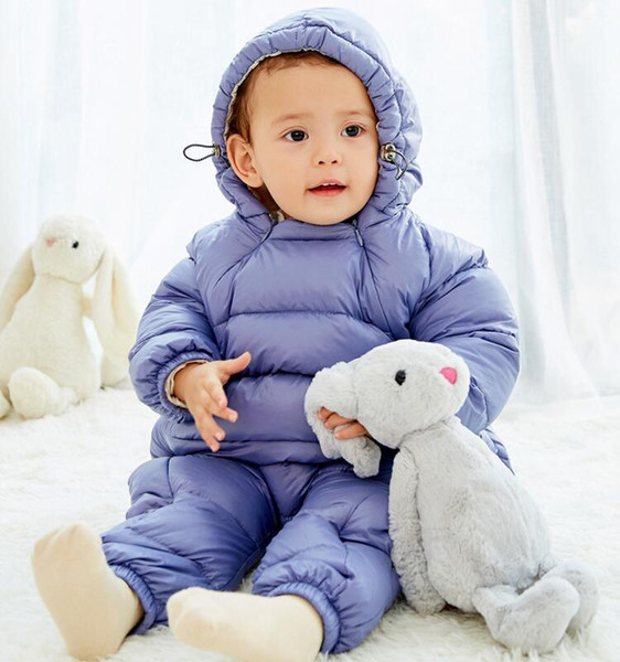 Wholesale sales 2018 new autumn and winter baby jumpsuit down cotton climbing clothes open file baby out clothes suit