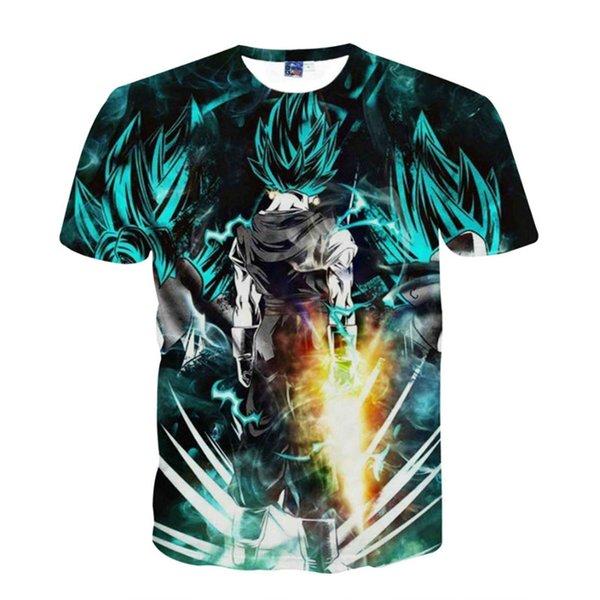 Dragon ball z  gold saiyan T-shirt Tee Super Black T Shirt Majin Buu  vegeta