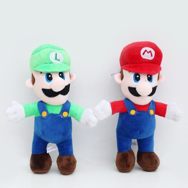 "2pcs/lot 10""25cm Super Mario Bros MARIO & LUIGI Plush Doll Stuffed Toy Free Shipping"