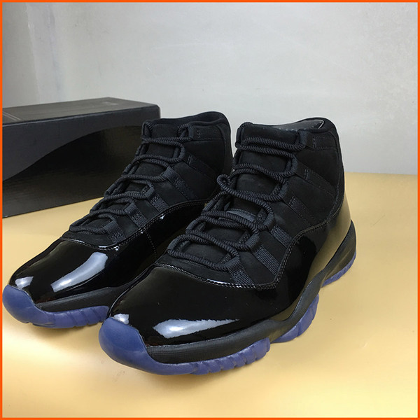 2018 New arrival 11 Prom Night Blackout Mens Basketball Shoes 11s Triple Black Athletic Sports Sneakers 378037-005