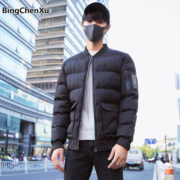 2018 autumn winter jacket men hot sale parkas men cotton-padded brand fashion jackt coat high quality men's windbreakers 1147