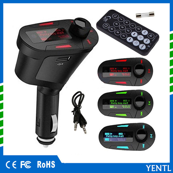 Free shipping yentl Car MP3 Player USB SD MMC digital Remote Control Music Charger Wireless MP3 kit FM Transmitter Radio receiver Car stereo