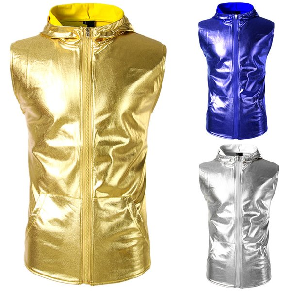 Glossy Hop Weste Ärmellos Westen Großhandel Coole Tees Mäntel Oberteile Kleidung Herrenbekleidung Shirt Hemd Hip Jacke Kapuze Pullover T Mit 8nw0mN
