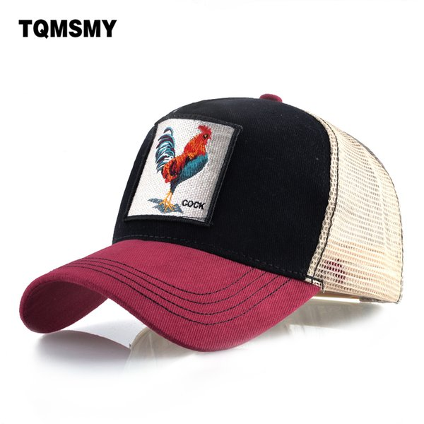 Embroidery cock Baseball Caps men Hip Hop cap Breathable Mesh Snapback caps Unisex sun hats for women chicken bone Casquette