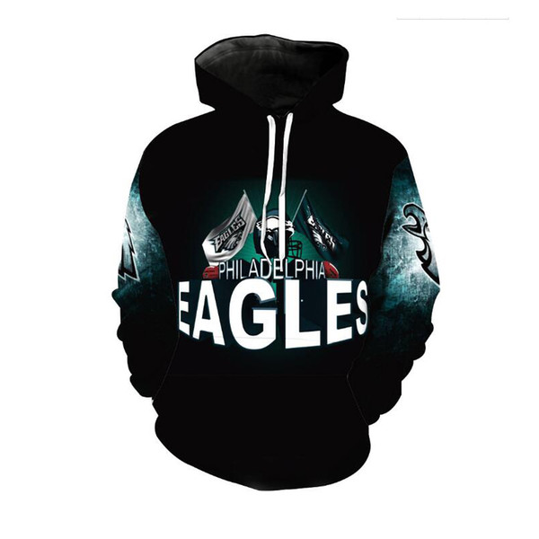 efaf9c32e1b Cloudstyle New Fashion Eagle Hoodies Men Thin 3d Sweatshirts With Hat Print  Euramerican Funny Hooded Hoodies Plus Size 5XL