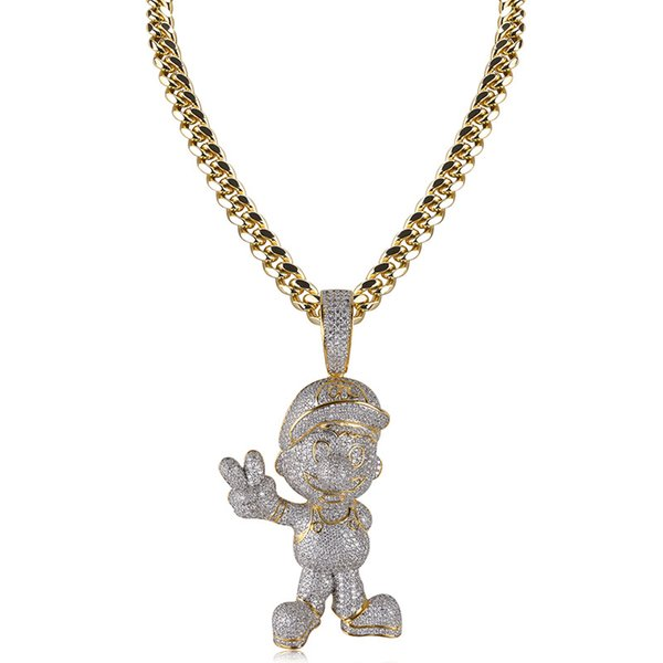 pendant with cuban 20inches chain