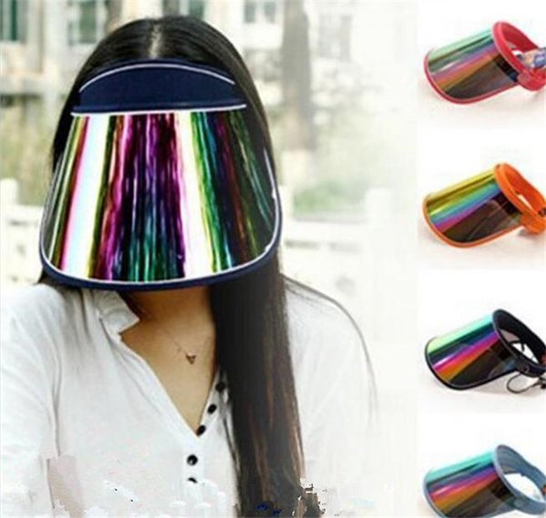 top popular 20pcs Cap Wholesale Visors For Car Anti UV Light Cap PC Sun Hat Colorful Board To Ride Sun Visors J073 2020