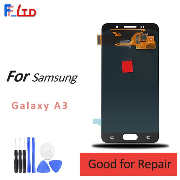 High Quality Screen for Samsung Galaxy A3 LCD Display Digitizer Assembly A300 A300H A300F A300M Can Adjust Brightness 100% Tested