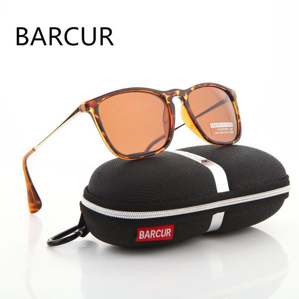 d8ca1e7532d45 BARCUR Marca Designer de Moda Verão Unisex Óculos De Sol Revestimento  Polarizado Espelho Clássico Óculos De