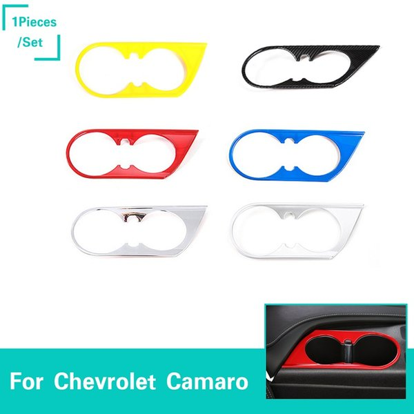 Front Cup Holder Decoration Cover Stickers Interior Accessories ABS 6 Color For Chevrolet Camaro 2017 Up Car Styling