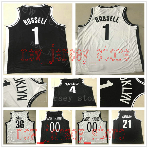 finest selection c2620 acb06 Custom College Printed 1 D'Angelo Russell Jersey Mens Black White Treveon  Graham Theo Pinson Mitch Creek McLaughlin Joe Harris Jerseys UK 2019 From  ...