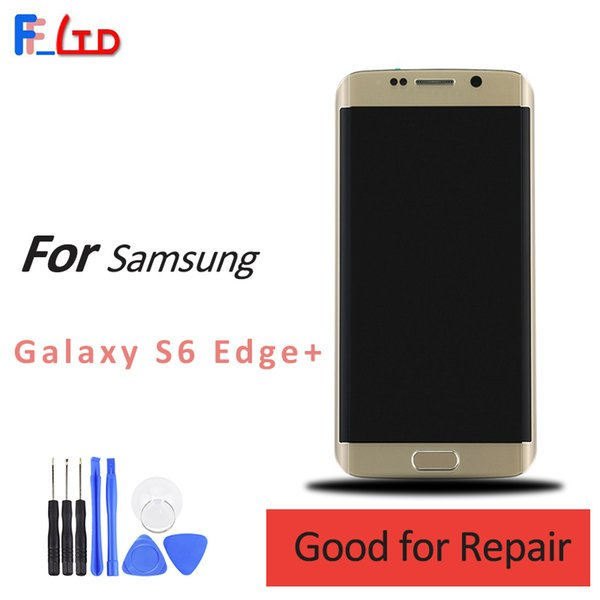 OEM AAA+++ For Samsung S6 Edge Plus LCD Display Digitizer Touch Screen Assembly with Frame g928f g928v G928a G928p g928fd 100% Tested