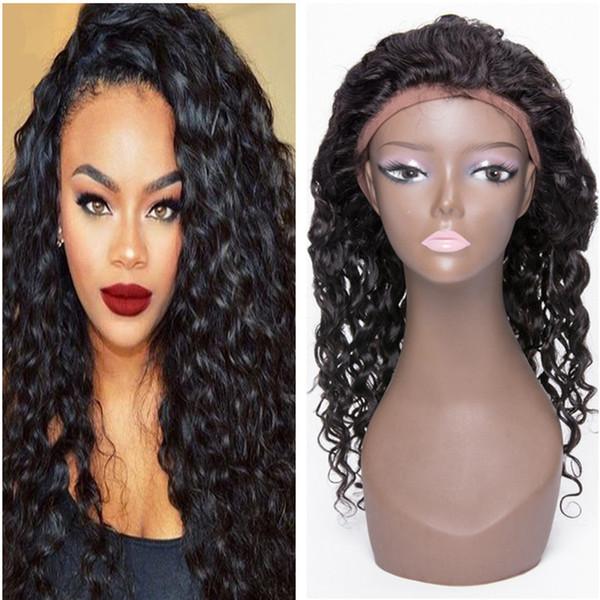 Moda parrucca riccia crespo Onda profonda corta BOB nero marrone 100% capello umano parrucche ondulate ricci capelli naturali perucas per le donne nere