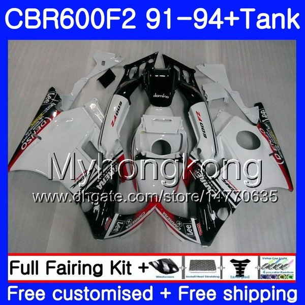 Body For HONDA CBR 600 F2 FS CBR600 F2 1991 1992 1993 1994 1MY.46 CBR600FS CBR 600F2 CBR600RR CBR600F2 new white 91 92 93 94 Fairing kit