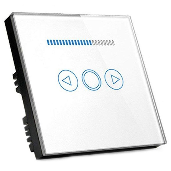 EU Led Touch-Dimmer Switch 500W Crystal Panel Wall Controller Switch for Led Dimmer Lamp