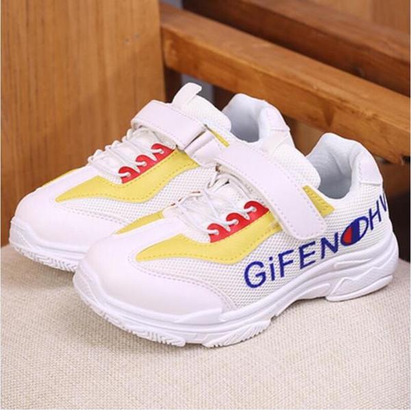 Outono novo designer meninas coco calçados esportivos meninos fundo macio sapatos casuais letras moda sapatos de caminhada