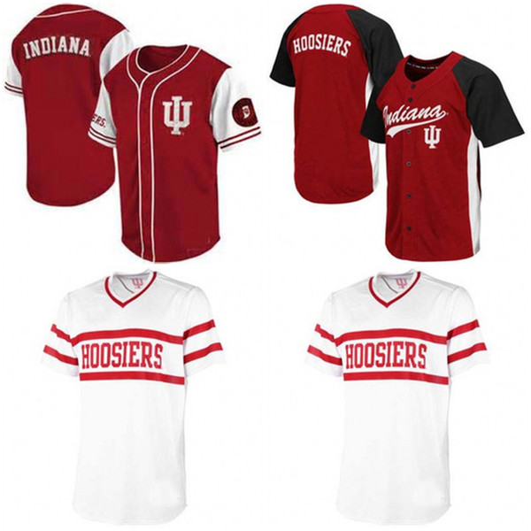 finest selection 76e05 780b6 2019 Custom Indiana Hoosiers NCAA College Baseball Jerseys White Wine Red  Men Women Youth Any Name Any Number Stitched Baseball Jersey S 4XL From ...