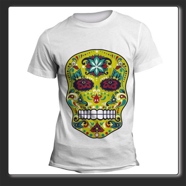 T-shirt Uomo Donna Teschio Verde