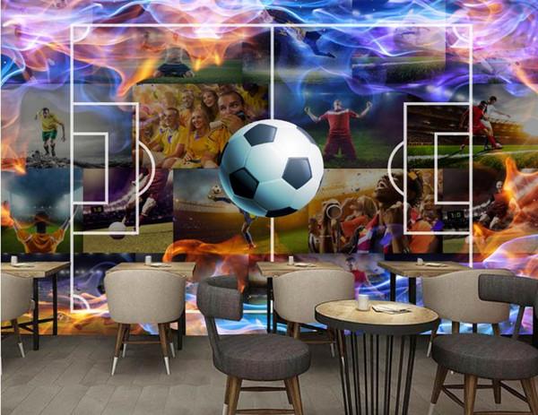 custom 3d wallpaper HD hand-painted football photo wallpaper Living room bedroom 3d mural wallpaper Gym TV background wall