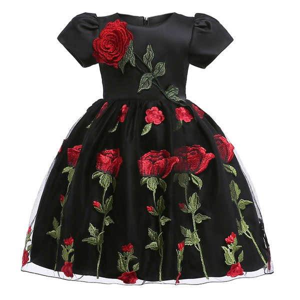 2018 lace flower Girls Dresses autumn winter baby girls clothes Fashion children's clothing for 2-8 yrs girl Birthday Christmas vestidos