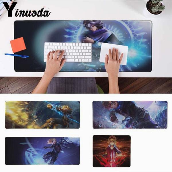 Yinuoda Boy Gift Pad Ezreal LOL Durable Rubber Mouse Mat Pad Size for 18x22cm 20x25cm 25x29cm 30x90cm 40x90cm