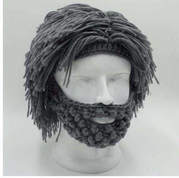 NaroFace Handmade Knitted Men Winter Crochet Mustache Hat Beard Beanies Face Tassel Bicycle Mask Ski Warm Cap Funny Hat Gift New