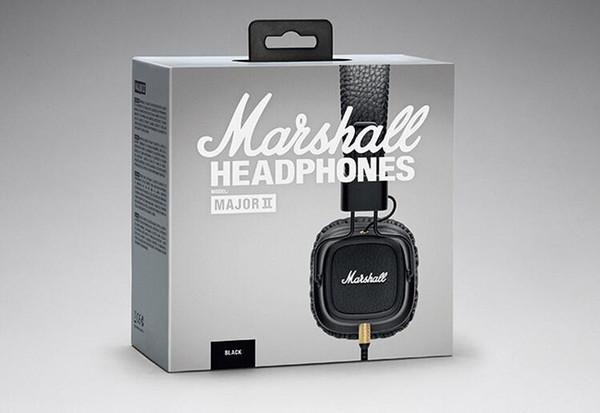 Marshall Major II 2 fones de ouvido Com Microfone DJ Bass Hi-Fi Auscultadores HiFi Headset Profissional Para Iphone X 8 Plus Note8 S9 +